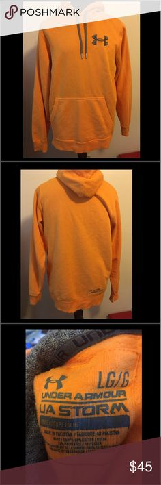 Pre-Owned Under Armour Hoodie UA Storm Adult L Pre-Owned Under Armour Hoodie UA Storm Adult Large Color Orange Under Armour Jackets & Coats