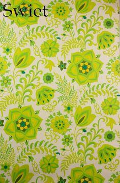 Super retro groen behang | Swiet