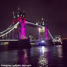 London Toer Bridge lit up for the birth of the princess.  So beautiful.