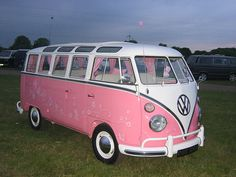 VW..Normally..Pink would not be a color choice for a vehicle..but THIS....This is sweet! Yes...please~