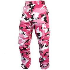 Tactical Camo BDU Pants - Pink Stand out from the crowd. Army Shorts, Army Pants, Combat Pants, Military Pants, Military Looks, Military Surplus, Camouflage Shorts, Military Camouflage, Army Combat Uniform