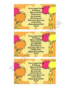 photograph about Truffula Seeds Printable referred to as Truffula Seeds Dr. Suess Search term Info - Identical Truffula