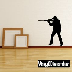 Sniper Hunting Wall Decal - Vinyl Decal - Car Decal - 007