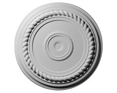 19 5/8in.OD x 4 3/4in.ID x 1 1/2in.P Alexandria Rope Ceiling Medallion No Finish
