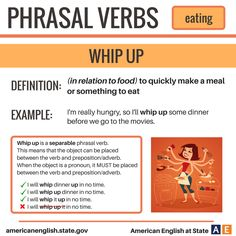 Phrasal Verbs: Eating - Whip Up