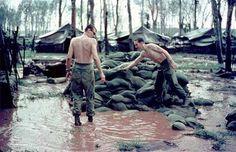 Vietnam - the Monsoon rains were relentless.