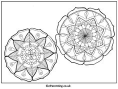 Free printable Two Small Mandalas adult colouring picture. A hand-drawn mandala colouring picture for you to print - enjoy! Mandala Coloring, Colouring Pages, Coloring Pictures For Kids, Best Trampoline, Shades Of Green, Adult Coloring, Free Printables, Activities For Kids, Two By Two