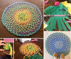 Bring Your Old T-Shirts to Use and Make a Colorful Rug!