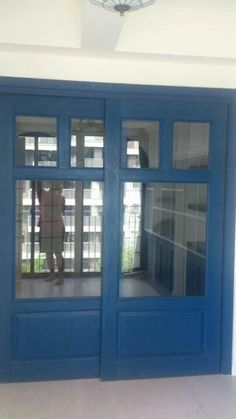 Country Colour (2506 Royal Blue) on the double doors