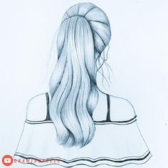 Pencil Sketches Of Girls, Girl Drawing Sketches, Cute Easy Drawings, Art Drawings Beautiful, Girly Drawings, Girl Sketch, Art Drawings Sketches Simple, Pencil Art Drawings, Kids Art Galleries