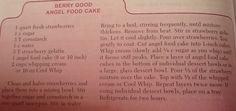 Berry Good Angel Foodcake - Sounds berry good!