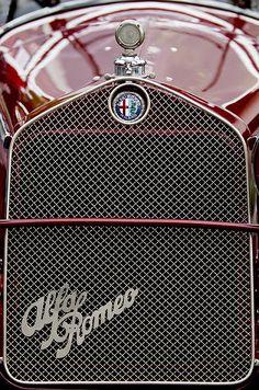 1931 Alfa-romeo Grille Emblem - Car photographs  by Jill Reger