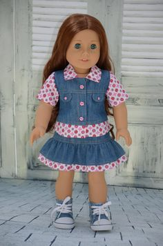 American Girl Doll Clothes   Denim set. by Symidollsclothes, $18.00