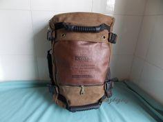 Große Kapazität Reisetasche, Retro Herren Rucksack Umhängetasche Computer Tasche Multifunktions Tasche Reise Taschen Canvas Seesack