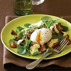 ALMOST Paleo Mushroom and Soft-Cooked Egg Salad with Hollandaise Recipe | MyRecipes.com