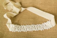 Lace tie back Headband  Newborn Photo Prop by OwlDesignsProps, $10.00