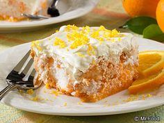 Orange Dream Angel Cake: This diabetic-friendly cake recipe tastes like a lightened-up version of your favorite orange and cream ice cream.