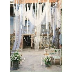 Beautiful hanging drapery inspo... Pic credit @elegantweddinginvites  #wedding #weddingdecor #weddinginspo #weddinginspiration #weddingceremony #weddingreception #eventstyle #eventstyling #weddingbackdrops #backdrops