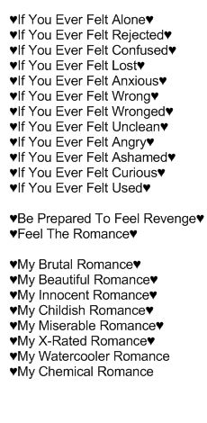 My Chemical Romance - I'm Not Okay ( I Promise) <3