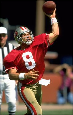 "Steve Young -- This is for my mom, for years she referred to him as ""my son-in-law"""