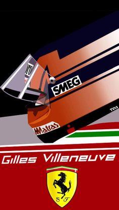 Belgian Grand Prix, Gilles Villeneuve, Formula One, Auto Racing, Art Cars, Chevrolet Logo, Ferrari, Pilot, Helmet
