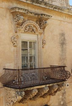 Portal and Balcony ~ Old World Architectural Details