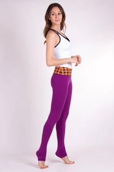 Royal Purple yoga leggings from mygingerorange.com
