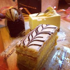 Delicious cakes from Patisserie Valerie in Liverpool!