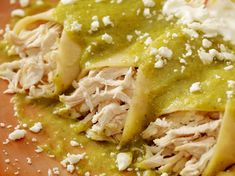 These chicken enchiladas with salsa verde are terrific for easy weeknight meals. If you& into make-ahead meals, this recipe can also be frozen. Rotisserie Chicken Enchiladas, Chicken Enchiladas Verde, Chicken Verde, Mexican Enchiladas, Cheese Enchiladas, Make Ahead Casseroles, Make Ahead Meals, Easy Weeknight Meals, Freezer Meals