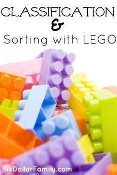 Have you ever included LEGO's in your homeschool? If not, you should be! They're so much fun and VERY easy to teach with! Check out these tips for Teaching Classification & Sorting with LEGO's!