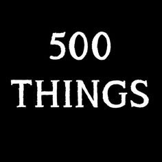500 Things. Some vintage, some handmade and all worth more than a tenner. See something you like? Message me.