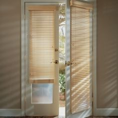 Bon Wood Blinds On French Doors
