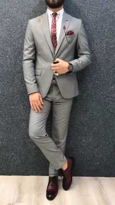 Bernard Grey Checks Slim Suit is part of Suits - Product Bernard Grey Checks Slim Suit Color code GreySize EU [ 464850525456 ]Suit material Woolen, Polyester Machine washable NoFitting Regular Slim Fit Remarks Dry Cleaning Only Blazer Outfits Men, Stylish Mens Outfits, Cream Blazer Outfit, Mens Fashion Suits, Mens Suits, Fashion For Men, Mens Tux, Formal Fashion, Fashion Ideas