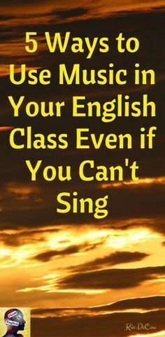 This post gives 5 great ideas for how to use music in an ESL or EFL class. None of these ideas involve the teacher singing if he or she doesn't want to.