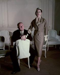 Christian Dior et Renée par Henry Clarke http://www.vogue.fr/mode/news-mode/diaporama/les-debuts-de-la-maison-dior-dans-un-livre/20654#!christian-dior-et-renee-par-henry-clarke-monsieur-dior-il-etait-une-fois