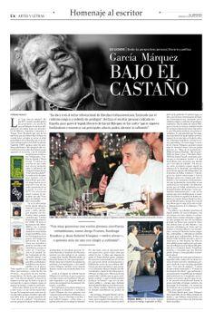 García Márquez bajo el castaño   El Mercurio (20.04.14)
