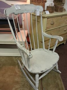 Distressed White Vintage Rocking Chair Philly Area Pick Up