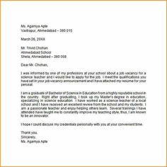 A Very Good Cover Letter Example Coverletters  University