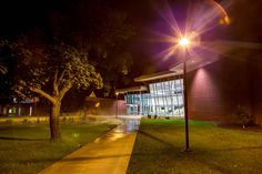 Science and Technology Center at night.