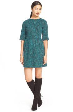 Alice + Olivia 'Glenys' Tweed A-Line Dress