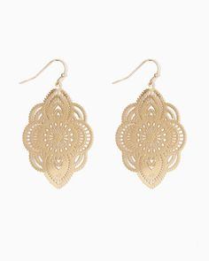 charming charlie | Filigree Burst Dangle Earrings | UPC: 400000204451 #charmingcharlie