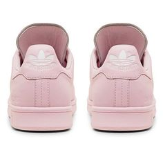 Raf Simons X Adidas Originals Stan Smith Light Pink Low Top Sneaker ($480) ❤ liked on Polyvore featuring shoes, sneakers, adidas, adidas footwear, adidas trainers, light pink shoes and light pink sneakers