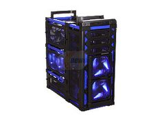 Antec Lanboy air Blue Black / Blue ATX Mid Tower Computer Modular Case