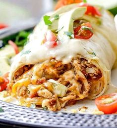 Smothered Baked Chicken Burritos Recipe | Food Recipes