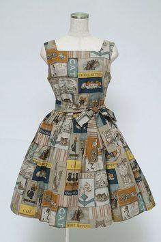 Jane Marple / Old Catポスター スクエアドレス - closet child オンラインショップ