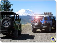 A FJ Cruiser, Land Rover and Land Cruiser go into a bar... We put in a day 4wheeling over the historic Naches Wagon Trail, to explore the eastern side of the Cascade Mountains.