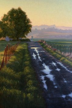 """Northern California Landscape Painting, """"By the Triple """"H"""" Ranch"""", Limited Edition Giclée Print, Sonoma County, Triple """"H"""", www.terrysauve.com"""