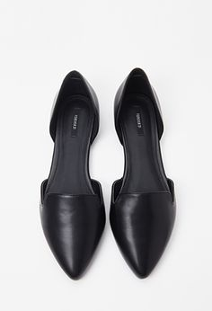 Faux Leather d'Orsay Flats   FOREVER21