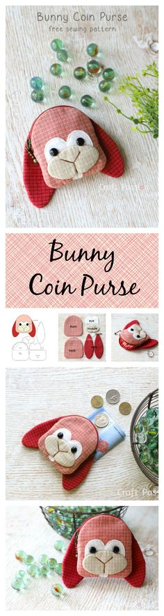 {free sewing pattern} Bunny Coin Purse
