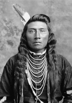 Unidentified Native American man. Beautiful features.
